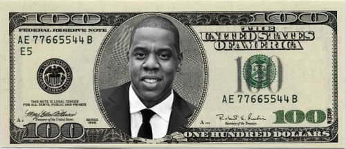 100 dollar bill jay z